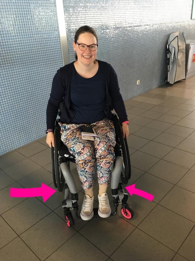 Voorbeeld van buisisolatie om rolstoelbuizen